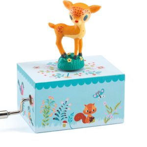 Hand Crank Music Boxes Fawn in the Woods