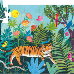 Silhouette Puzzles The Tiger's Walk - 24pcs