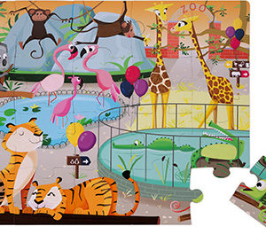"Tactile Puzzle ""A Day At The Zoo"" - 20 Pcs"