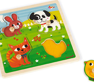 "Tactile Puzzle ""My First Animals"""
