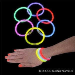 "8"" 100Pc Glow Bracelet Assortment"