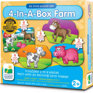 My First Puzzle Sets 4-In-A-Box Puzzles - Farm