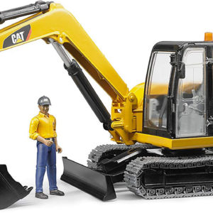 CATERPILLAR Mini Excavator with worker