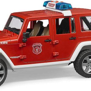Jeep Rubicon fire vehicle w fireman