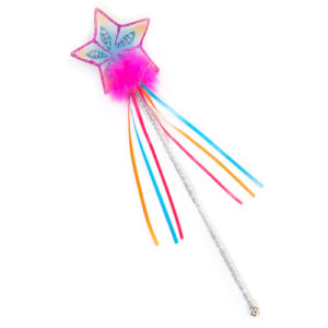Glitter Rainbow Wand (multi Pastel Hot Pink)