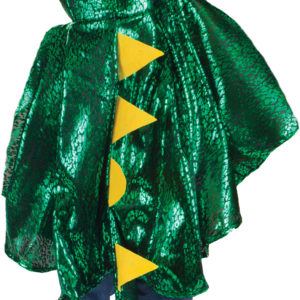 Green Metallic Toddler Dragon Cape