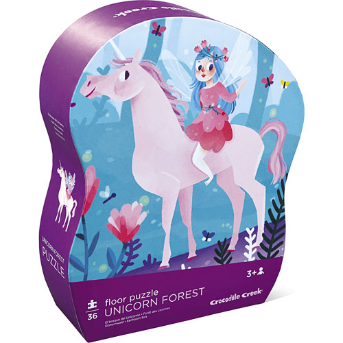 Crocodile Creek Unicorn Forest 36 Piece Jigsaw Floor Puzzle