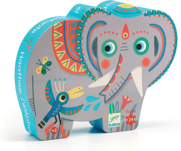 Silhouette Puzzles Haathee, Asian Elephant - 24pcs