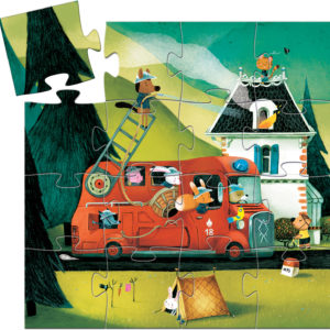Silhouette Puzzles The Fire Truck - 16pcs