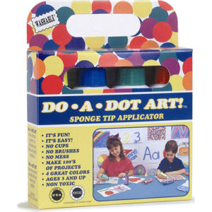Dot-Art Markers 4-Pk Rainbow [Washable]