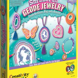 Shrink Fun Geode Jewelry