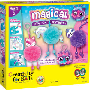 Magical Pom Pom Keychains