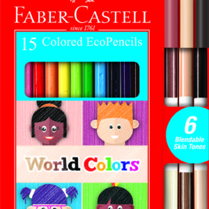 World Colors - 15 Colored Ecopencils