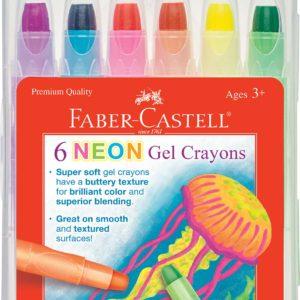 6ct Neon Gel Crayons