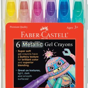 6ct Metallic Gel Crayons