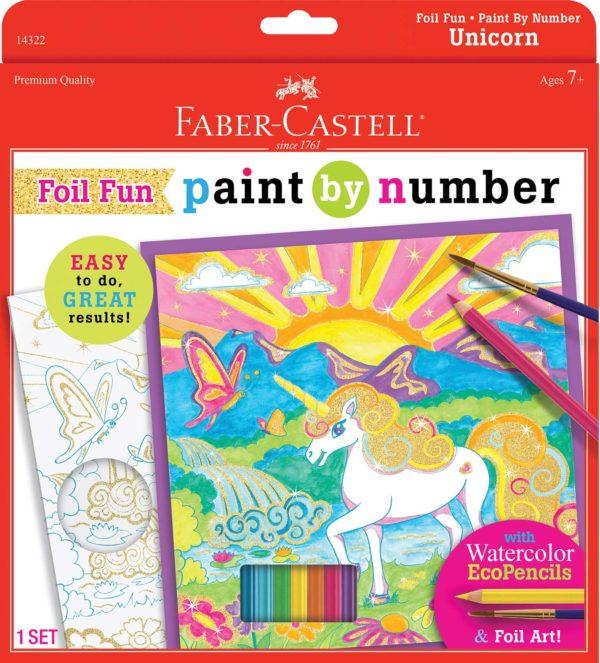 Paint By Number Unicorn Foil Fun