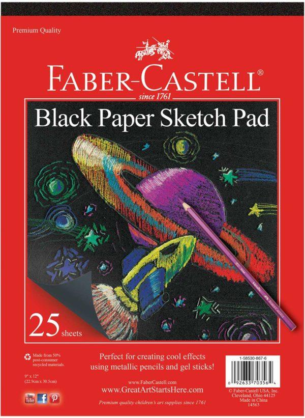 """Black Paper Pad 9"""" x 12"""""""
