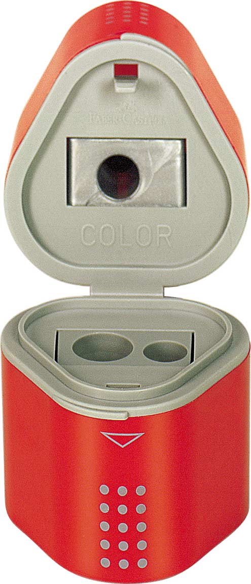 Single GRIP Trio Pencil Sharpener, blister