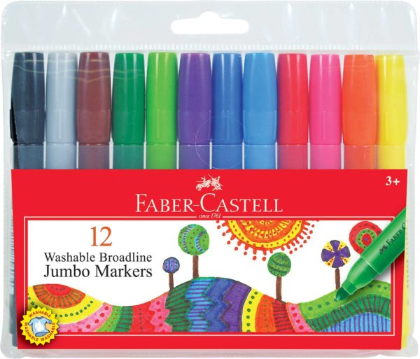 12 ct Broadline Tip Jumbo Washable Markers