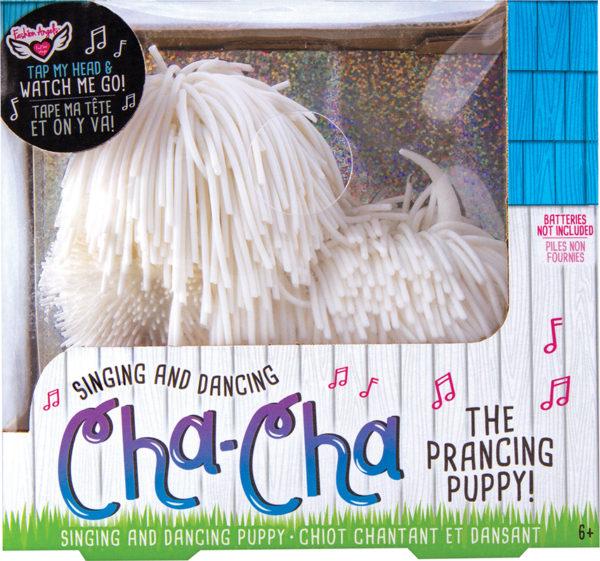 Cha Cha The Prancing Pup - White