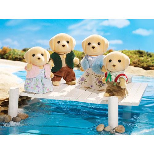 Yellow Labrador Family