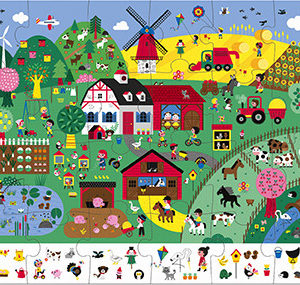 Observation Puzzle - The Farm - 24 Pcs