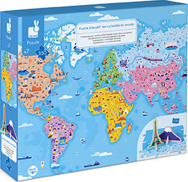 Educational Puzzle- World Curiosities - 350 Pcs