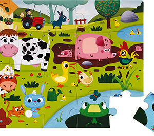"Tactile Puzzle ""Farm Animals"" - 20 Pcs"