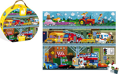 Hat Boxed 100 Pcs Puzzle Vehicles