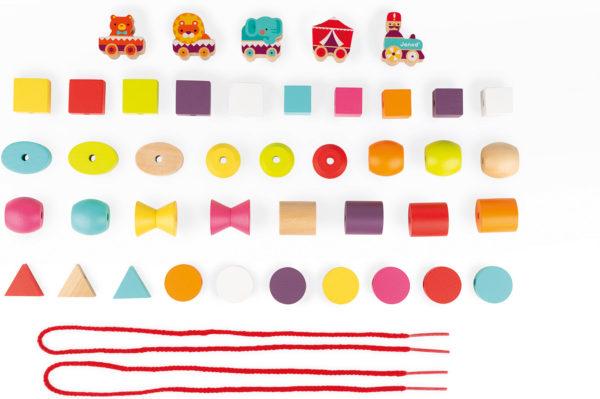 Stringable Circus-Themed Beads