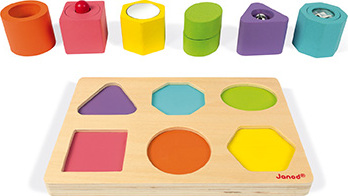 I Wood Shapes & Sounds 6-Block Puzzle