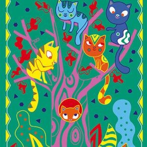 Scratch Art Cats