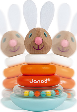 Janod Lapin - Stackable Roly-Poly Rabbit