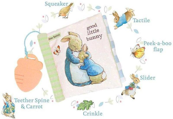 Peter Rabbit Soft Book with Teether