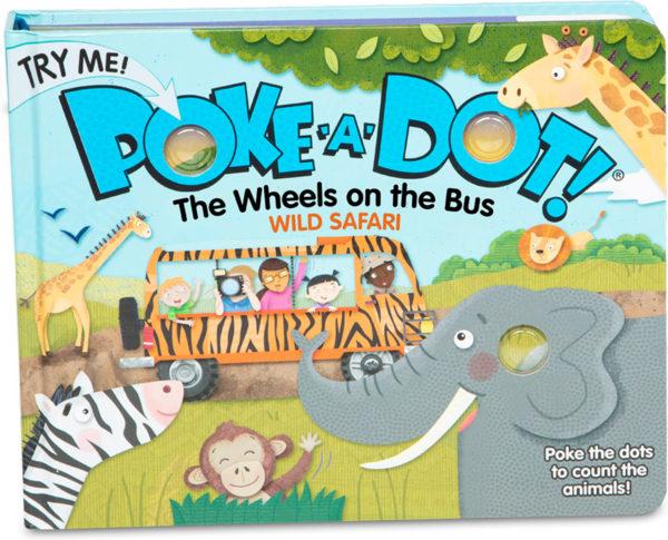 Poke-a-Dot - The Wheels on the Bus Wild Safari Board Book
