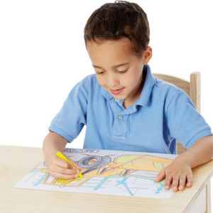 Jumbo 50-Page Kids' Coloring Pad - Space, Sharks, Sports, and More