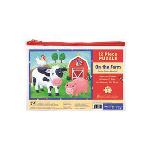 On the Farm 12 Piece Puzzle