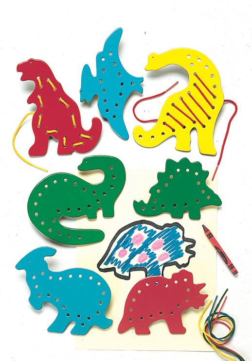 Lacing & Tracing - Dinosaurs