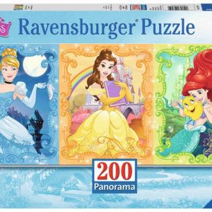 Beautiful Disney Princesses (200 pc Panorama Puzzle)