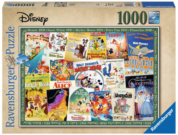 Disney Vintage Movie Posters (1000 pc Puzzle)