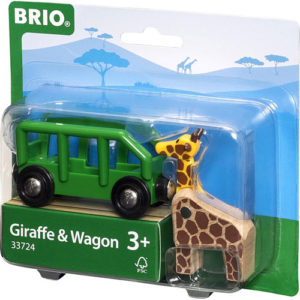 Giraffe and Wagon