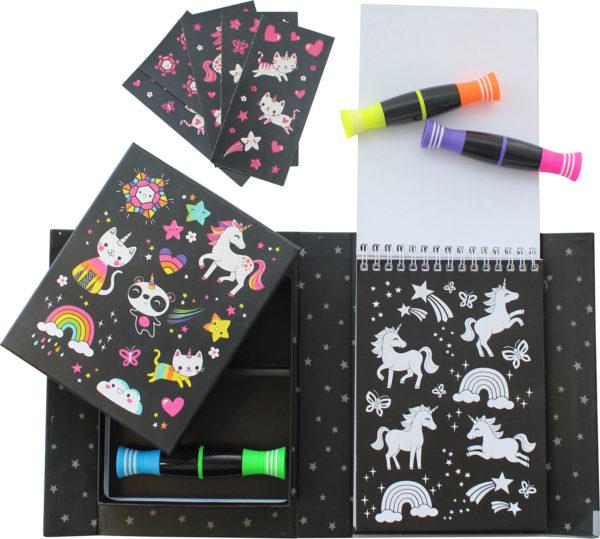 Unicorn & Friend - Neon Clr St