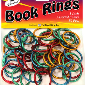Book Rings 1.25 inches (50 assorted colors per bag)