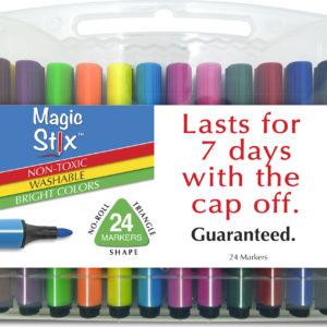 Magic Tri Stix 24 Color - Cap off for 7 days