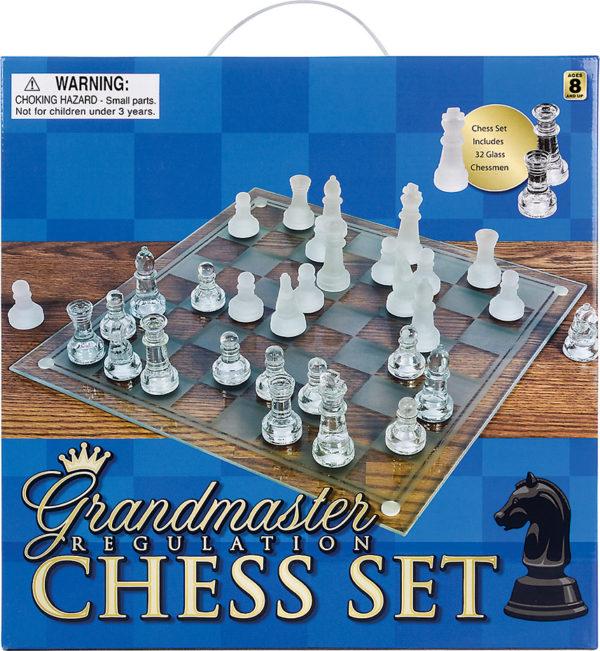 "14"" Glass Chess Set"