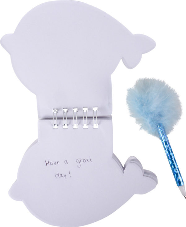 """4"""" Narwhal Notebook With Feather Pen"""