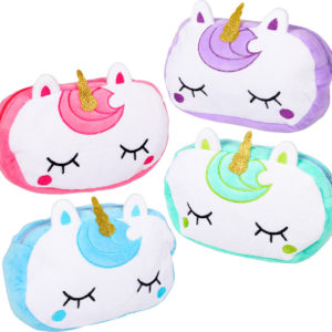 "8"" Plush Unicorn Pencil Pouch"