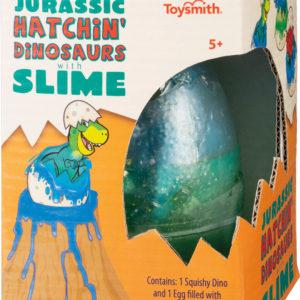 """Dino Egg with Slime 5"""" stretchy dino fig"""