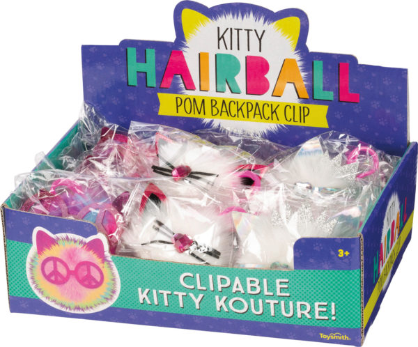 KITTY HAIRBALL POM CLIP