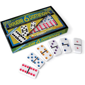 Double 6 Colored Dominoes, Prof. Size